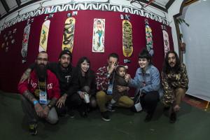Friedship Crew e suas obras, foto: Camilo Neres.