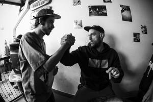 Thiago Garcia na interação, foto: Camilo Neres.