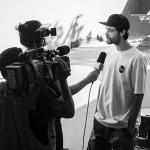 Marcelo dando entrevista, foto: Camilo Neres.