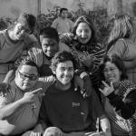 Foto com os alunos.