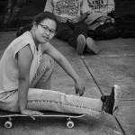 Aquela pose de skatista.