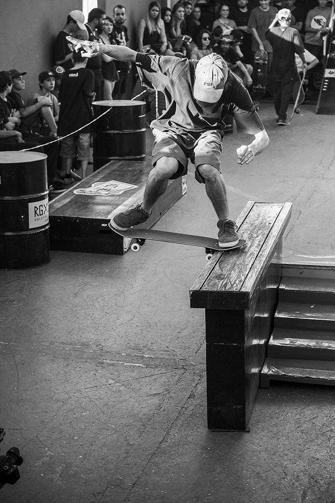 Raphael Lugo, Bs Noseslide Big Spin Out. Foto: Camilo Neres
