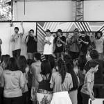 Apresentação com os alunos, foto: Camilo Neres.