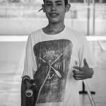 "Pedro ""Bigode"" aluno skatista, foto: Camilo Neres."