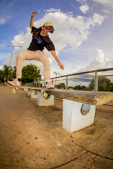 Edduarda Grego, Bs noseslide shov-it.  Foto: Pedro Iti.